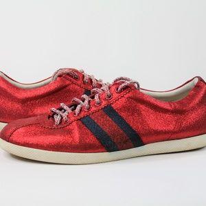 Gucci Glitter Web Red Sneakers 414684